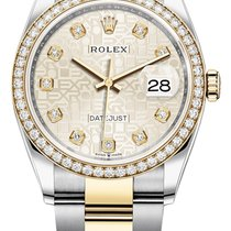 Rolex Datejust Gold/Steel 36mm Silver United States of America, New York, Airmont