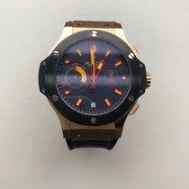 Hublot Yellow gold Automatic Blue No numerals 44mm pre-owned Big Bang 44 mm