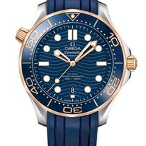 Omega Seamaster Diver 300 M Goud/Staal