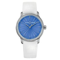 Ulysse Nardin Classico White gold 37mm Blue