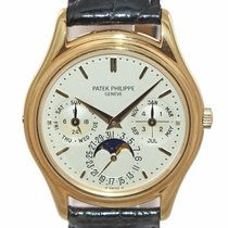 Patek Philippe Perpetual Calendar Yellow gold 36mm Silver United States of America, New York, Huntington