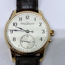Moritz Grossmann ATUM pre-owned 41mm Silver Leather