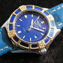Breitling Lady J Gold/Stahl 30mm Blau Keine Ziffern
