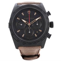 Tudor Fastrider Blackshield Alcantara Strap Ceramic Watch...