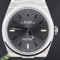 Rolex Oyster Perpetual Steel Grey Dial 39MM Full Set Ref114300