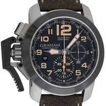 Graham Chronofighter Oversize new Automatic Chronograph Watch with original box and original papers 2CCAC.B02A.T43S
