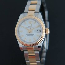 Rolex Datejust Gold/Steel White 179173