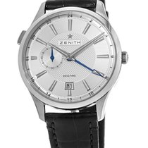 Zenith Elite Dual Time Steel 40mm Silver United States of America, New York, Brooklyn