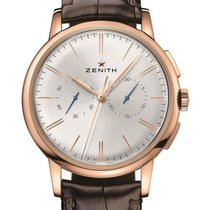 Zenith Elite Chronograph Classic Rose gold 42mm Silver No numerals United States of America, New Jersey, Princeton