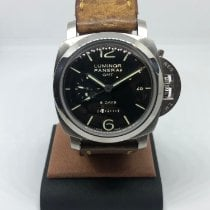 Panerai Luminor 1950 8 Days GMT Stal 44mm Czarny Arabskie