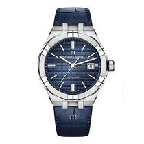 Maurice Lacroix AIKON Staal 42mm Blauw Geen cijfers