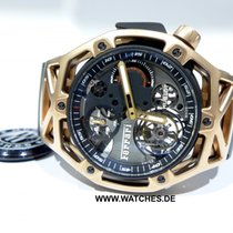 Hublot Techframe Ferrari Tourbillon Chronograph Rose gold 45mm Black