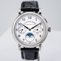 A. Lange & Söhne 1815 White gold 40mm Silver United States of America, Massachusetts, Boston