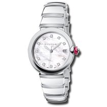Bulgari Steel Automatic Mother of pearl No numerals 36mm new Lucea