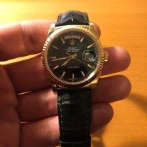 Rolex Day-Date 36 gebraucht 36mm Grün Datum Eidechsenleder