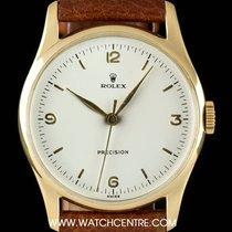 Rolex 18k Yellow Gold Cream Dial Precision Vintage Gents 4669