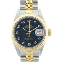 Rolex Datejust Ladies' 26mm Dark Navy Blue Dial Yellow Gold...