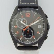 Hamilton Khaki Pilot Pioneer pre-owned 44mm Black Chronograph Date Leather