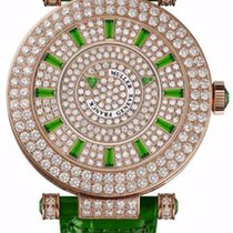 Franck Muller Double Mystery Ronde Green Emeralds 18K Rose...