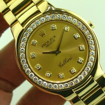 Rolex Cellini ref 6663 18k Yellow Gold Mens Watch with Factory...