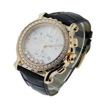 Chopard 283583-5001 Happy Sport Round Chronograph with Diamond...