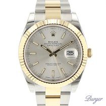 Rolex Datejust 41 Rolesor Yellow Fluted / Oyster NEW