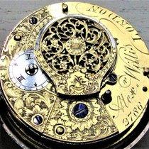 A. Willis London - Pair cased verge fusee pocket watch in...