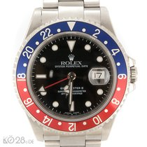 """Rolex GMT Master II 16710  """"Pepsi"""" Papers 2002 LC100 Service 2013"""