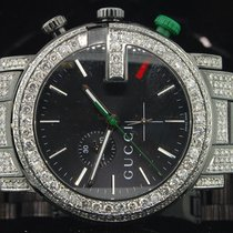 Gucci Diamond Gucci Watch Ya101331 Mens 16.50 CT Custom G...