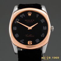 Rolex Cellini Danaos White gold 34 mm case without crownmm Black Arabic numerals