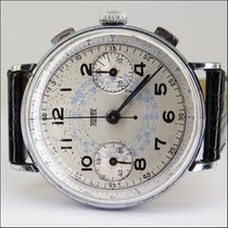 Hugex cal 22 Valjoux Chronograph Stahl 40's