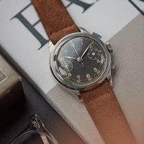 Tavannes Chronograph Cal. Valjoux 22  steel vintage watch