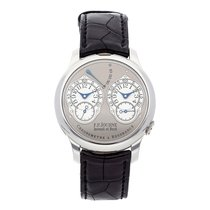F.P.Journe Chronometre à Resonance Platin 40mm Silber Arabisch