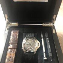 Panerai Luminor 1950 8 Days Chrono Monopulsante GMT Titanium 44mm Bruin Arabisch Nederland, Enter