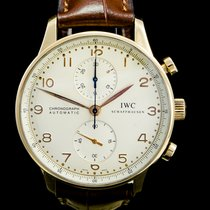 IWC Portuguese Chronograph Or rose 41mm Champagne Arabes Belgique, Brussel