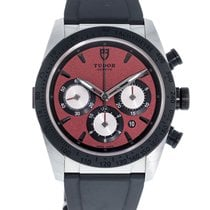 Tudor Fastrider Chrono pre-owned 42mm Red Leather