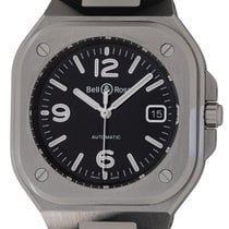 Bell & Ross Steel Automatic Black 40mm pre-owned BR 05
