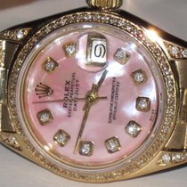 Rolex Yellow gold Automatic Pink No numerals 26mm pre-owned Datejust