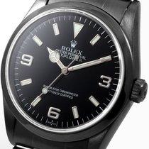 Rolex PVD/DLC 36mm Explorer Black Dial 14270 model