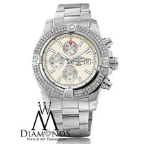 Breitling New Breitling Super Avenger Ii (two) 3.00ct. Diamond...