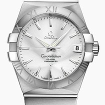 Omega Constellation Men Steel 38mm Silver No numerals
