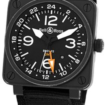 """Bell & Ross """"BR01-93 GMT"""" Dual Time Strapwatch."""