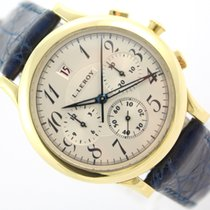 L.Leroy Or jaune Remontage automatique Blanc 38,5mm occasion