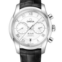 Omega De Ville Co-Axial Acero 42mm Plata
