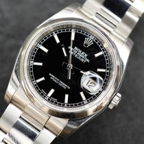 Rolex Datejust 36 mm new model oyster black dial roulette date
