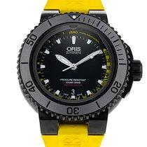 Oris 46mm Automatic 2011 pre-owned Aquis Depth Gauge Black
