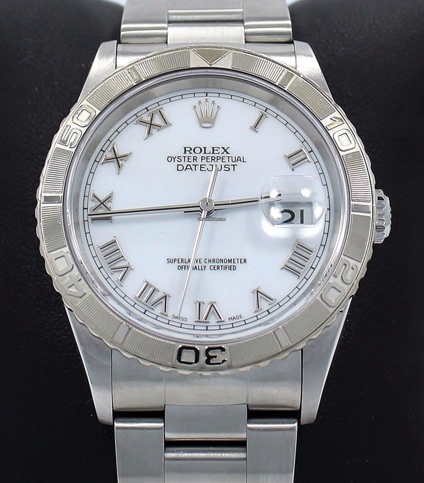 b463e195450 Rolex Datejust Turn-o-graph 16264 Date Oyster 18k White Gold... for Rs.  401