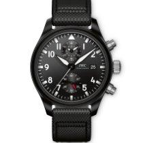 IWC Chronograph 44mm Automatic 2018 new Pilot Chronograph Top Gun Black
