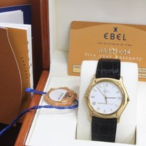 Ebel 1911 pre-owned 35mm White Date Leather