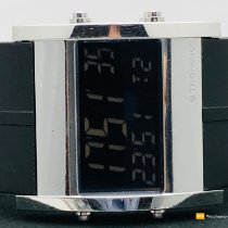 TAG Heuer Microtimer Staal 38mm Zwart Geen cijfers